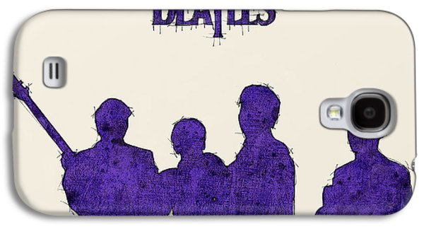 Beatles Galaxy S4 Cases - The Beatles Portrait - Ringo Starr Quote Galaxy S4 Case by Pablo Franchi