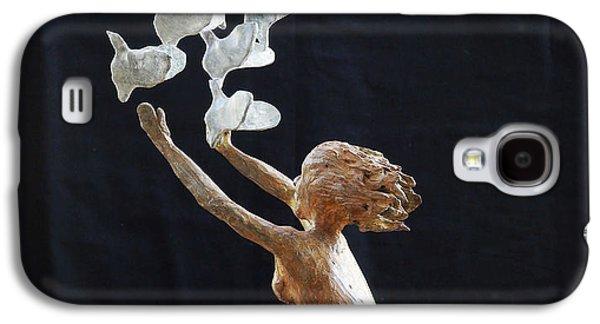 People Reliefs Galaxy S4 Cases - The Dove Maiden Galaxy S4 Case by Dan Redmon