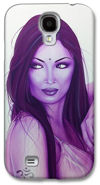 Indian Ink Galaxy S4 Cases - The First Breath of Creation Galaxy S4 Case by Christian Chapman Art