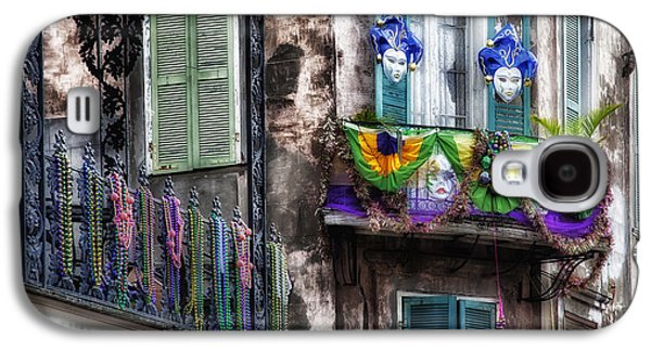 Louisiana Photographs Galaxy S4 Cases - The French Quarter during Mardi Gras Galaxy S4 Case by Mountain Dreams