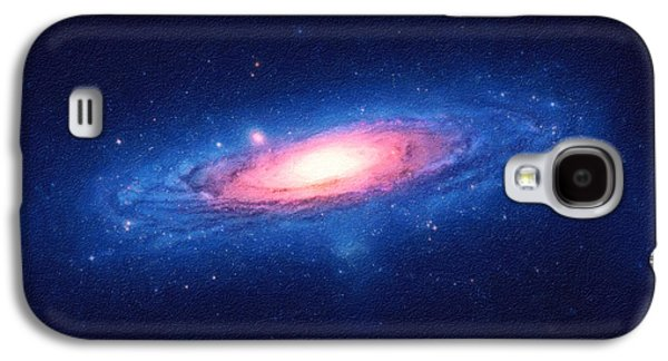 Milky Way Paintings Galaxy S4 Cases - The Galaxy Galaxy S4 Case by Celestial Images