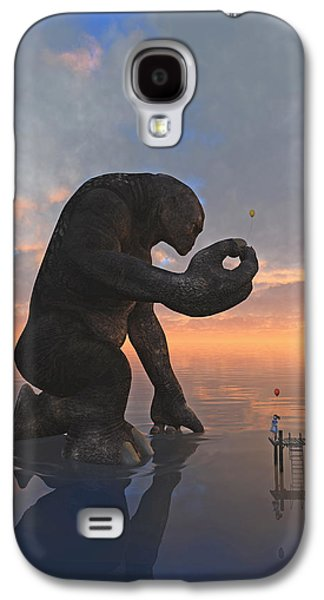 Little Girl Galaxy S4 Cases - The Gift Galaxy S4 Case by Cynthia Decker
