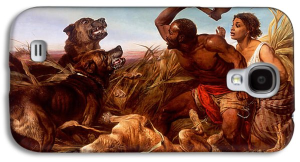 Slavery Paintings Galaxy S4 Cases - The Hunted Slaves Galaxy S4 Case by Richard Ansdell