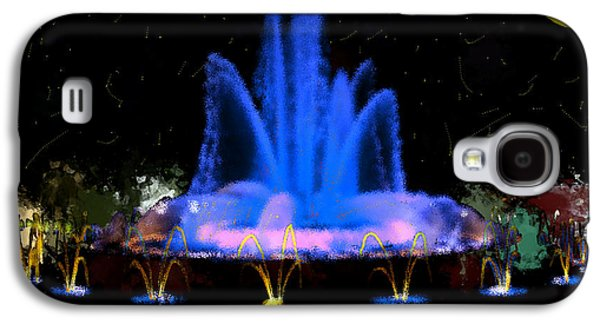 Jet Star Paintings Galaxy S4 Cases - The Magic Fountain Galaxy S4 Case by Bruce Nutting