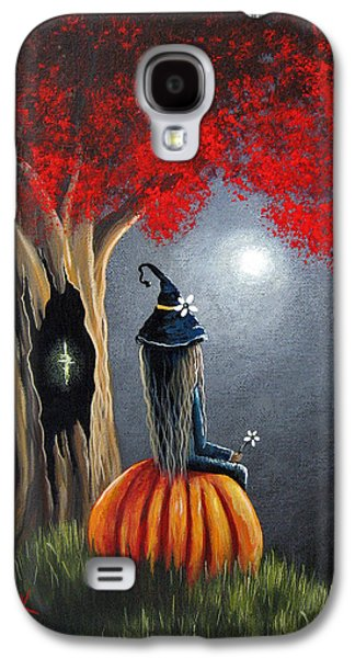 Midsummer Galaxy S4 Cases - Original Witch Art - The Midnight Hour Galaxy S4 Case by Shawna Erback