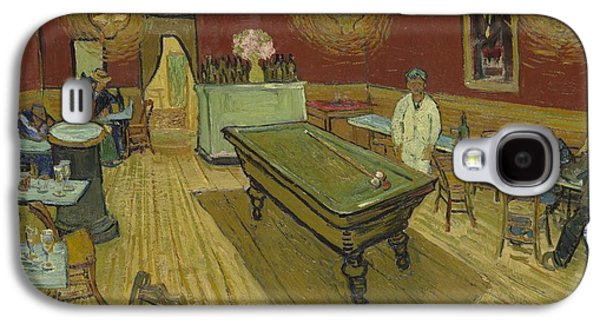 Night Lamp Paintings Galaxy S4 Cases - The Night Cafe Galaxy S4 Case by Vincent Van Gogh