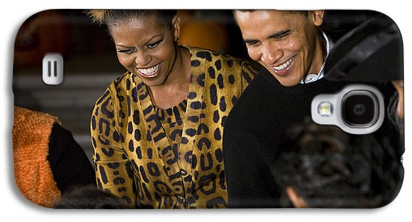 Michelle Obama Photographs Galaxy S4 Cases - The President and First Lady Galaxy S4 Case by JP Tripp