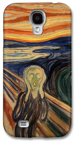 Recently Sold -  - Abstract Nature Galaxy S4 Cases - The Scream Galaxy S4 Case by Edvard Munch