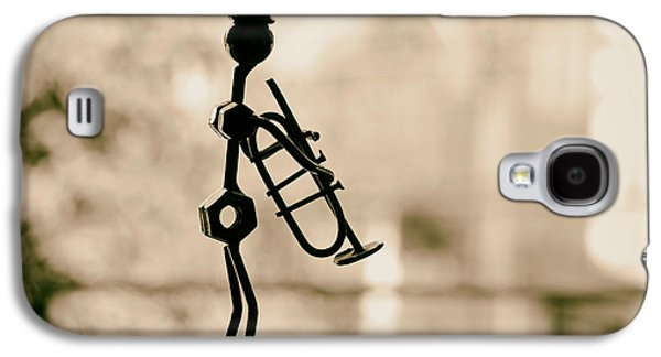 Celebrities Sculptures Galaxy S4 Cases - The Trumpet Player Galaxy S4 Case by Mountain Dreams