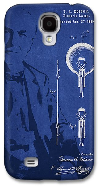 Edison Galaxy S4 Cases - Thomas Edison Electric Lamp Patent Drawing From 1880 Galaxy S4 Case by Aged Pixel