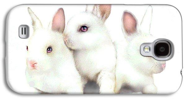 Three Bunnies Galaxy S4 Case by Robert Foster