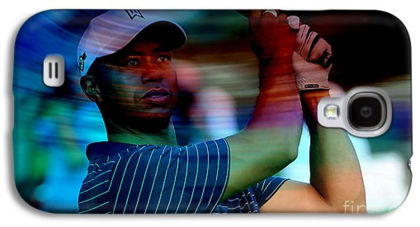 Tiger Galaxy S4 Cases - Tiger Woods Galaxy S4 Case by Marvin Blaine