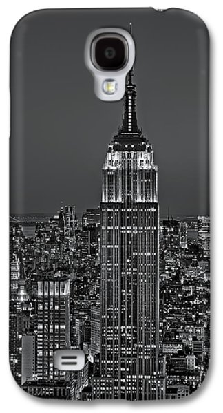 Freedom Galaxy S4 Cases - Top of the Rock BW Galaxy S4 Case by Susan Candelario