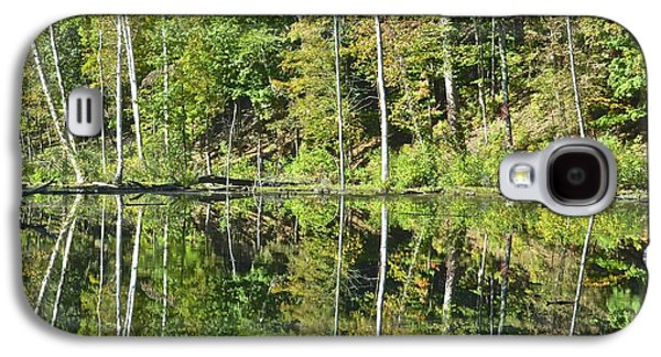 Trees Reflecting In Creek Galaxy S4 Cases - Two of a Kind Galaxy S4 Case by Frozen in Time Fine Art Photography