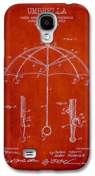 Umbrellas Digital Galaxy S4 Cases - Umbrella patent Drawing from 1912 Galaxy S4 Case by Aged Pixel
