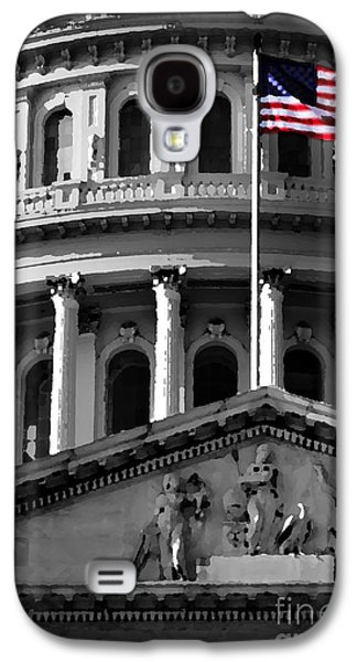 Us Capital Mixed Media Galaxy S4 Cases - United State Capitol Building Galaxy S4 Case by Lane Erickson