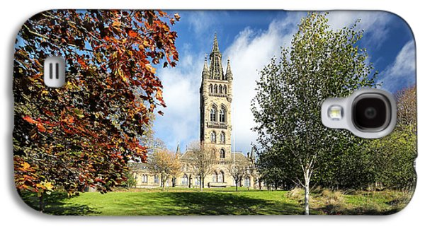 Building Framed Prints Galaxy S4 Cases - University of Glasgow Galaxy S4 Case by Grant Glendinning