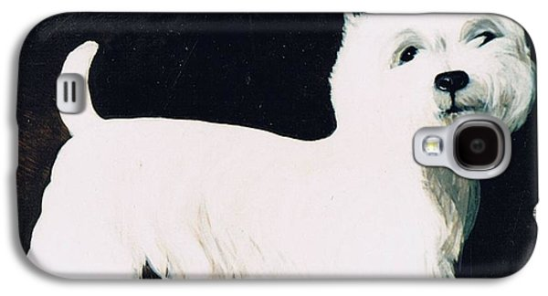 Terrier Galaxy S4 Cases - Untitled Galaxy S4 Case by Maggie Rowe