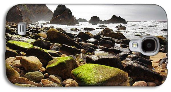 Sunset Abstract Galaxy S4 Cases - Ursa Beach Galaxy S4 Case by Carlos Caetano