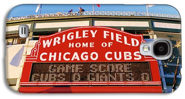 Sports Photographs Galaxy S4 Cases - Usa, Illinois, Chicago, Cubs, Baseball Galaxy S4 Case by Panoramic Images