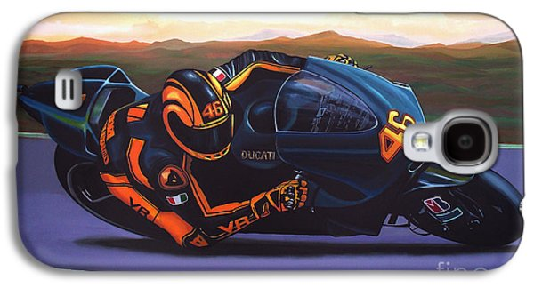 Paul Meijering Galaxy S4 Cases - Valentino Rossi on Ducati Galaxy S4 Case by Paul Meijering