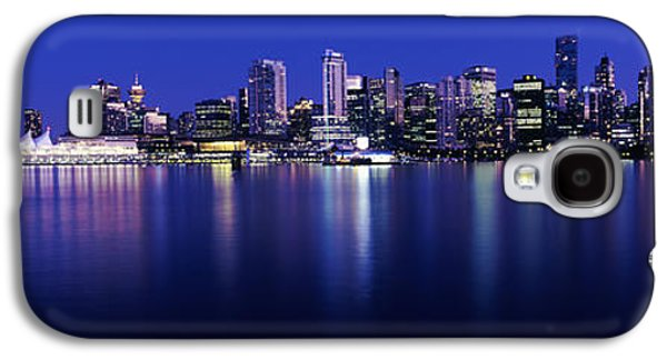 Vancouver Photographs Galaxy S4 Cases - Vancouver Skyline At Night, British Galaxy S4 Case by Panoramic Images