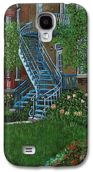 Montreal Paintings Galaxy S4 Cases - Verdun Stairs Galaxy S4 Case by Reb Frost