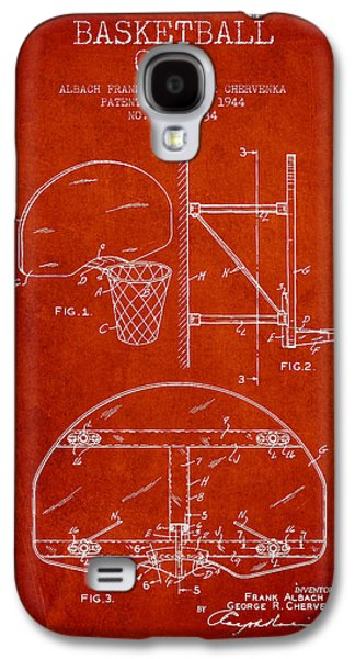 Hoop Galaxy S4 Cases - Vintage Basketball Goal patent from 1944 Galaxy S4 Case by Aged Pixel
