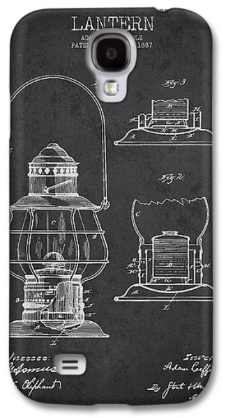 Lantern Digital Galaxy S4 Cases - Vintage Lantern Patent Drawing From 1887 Galaxy S4 Case by Aged Pixel