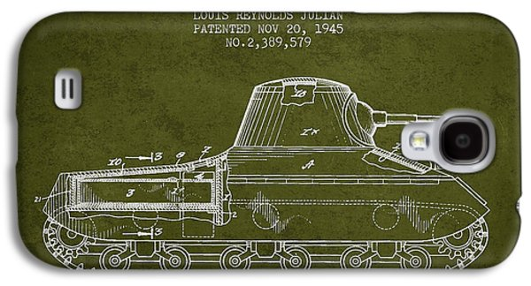 Fight Digital Art Galaxy S4 Cases - Vintage Military Tank Patent from 1945 Galaxy S4 Case by Aged Pixel