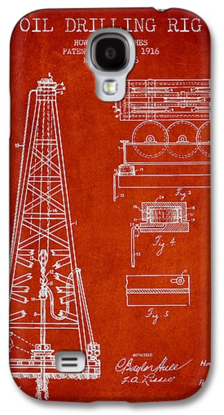 Industry Galaxy S4 Cases - Vintage Oil drilling rig Patent from 1916 Galaxy S4 Case by Aged Pixel