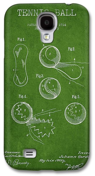 Tennis Galaxy S4 Cases - Vintage Tennnis Ball Patent Drawing from 1914 Galaxy S4 Case by Aged Pixel