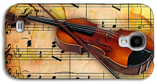 Instrument Galaxy S4 Cases - Violin Collection Galaxy S4 Case by Marvin Blaine