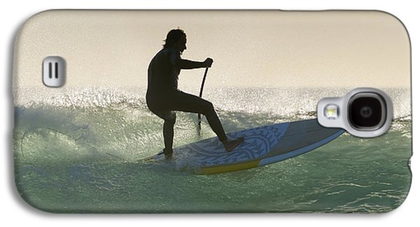 Surf Silhouette Galaxy S4 Cases - Wakeboarding Los Lances Beach Tarifa Galaxy S4 Case by Ben Welsh