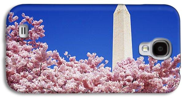 Cherry Blossoms Galaxy S4 Cases - Washington Monument Washington Dc Galaxy S4 Case by Panoramic Images