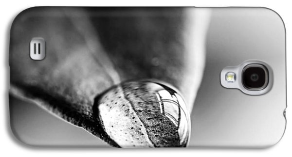 Square Format Galaxy S4 Cases - Water drop on leaf Galaxy S4 Case by Elena Elisseeva