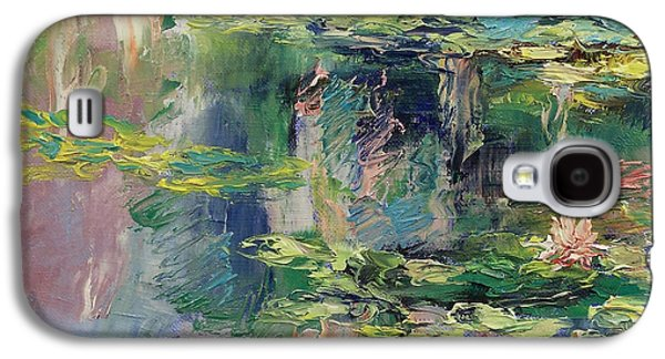 Claude Paintings Galaxy S4 Cases - Water Lilies Galaxy S4 Case by Michael Creese