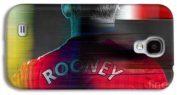 Wayne Rooney Galaxy S4 Case by Marvin Blaine