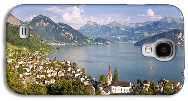 Lucerne Galaxy S4 Cases - Weggis Switzerland Galaxy S4 Case by Brian Jannsen