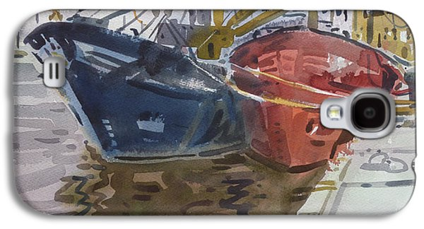 Commercial Galaxy S4 Cases - Wexford Fishing Boats Galaxy S4 Case by Donald Maier