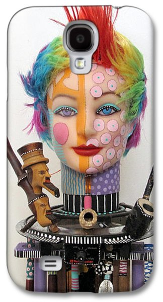 Father Sculptures Galaxy S4 Cases - What The Hell Was She Smoking Galaxy S4 Case by Keri Joy Colestock