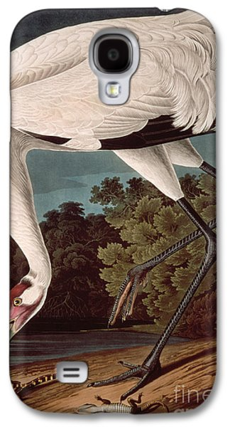 Ornithology Paintings Galaxy S4 Cases - Whooping Crane Galaxy S4 Case by John James Audubon