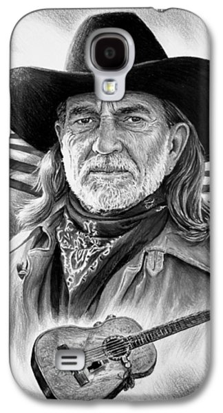 4th July Galaxy S4 Cases - Willie Nelson American Legend Galaxy S4 Case by Andrew Read