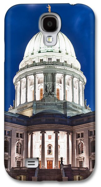 Wisconsin State Capitol Building At Night Galaxy S4 Case by Sebastian Musial