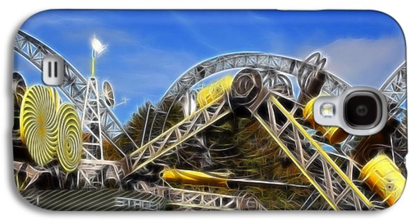 Alton Towers Smiler Roller Coaster Ride Galaxy S4 Case by Doc Braham