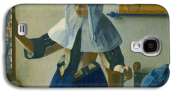 Old Pitcher Paintings Galaxy S4 Cases - Young Woman with a Water Pitcher Galaxy S4 Case by Johannes Vermeer