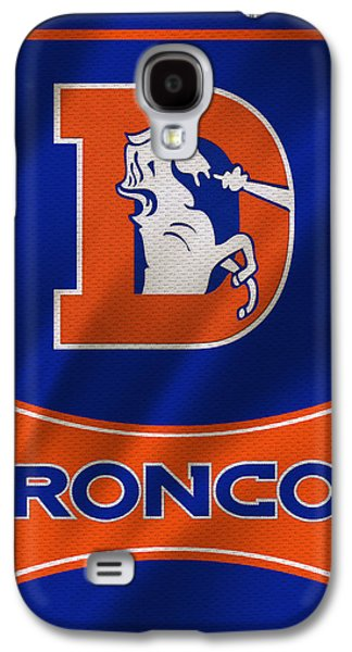 Uniform Galaxy S4 Cases - Denver Broncos Uniform Galaxy S4 Case by Joe Hamilton
