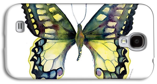 Moth Paintings Galaxy S4 Cases - 20 Old World Swallowtail Butterfly Galaxy S4 Case by Amy Kirkpatrick