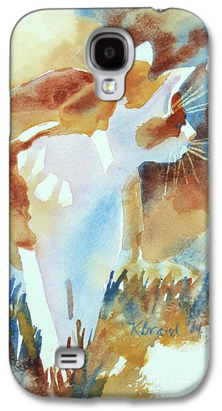 2004 Cat On The Prowl  I  Galaxy S4 Case by Kathy Braud