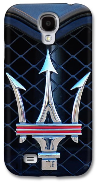 Imagery Galaxy S4 Cases - 2005 Maserati GT Coupe Corsa Emblem Galaxy S4 Case by Jill Reger